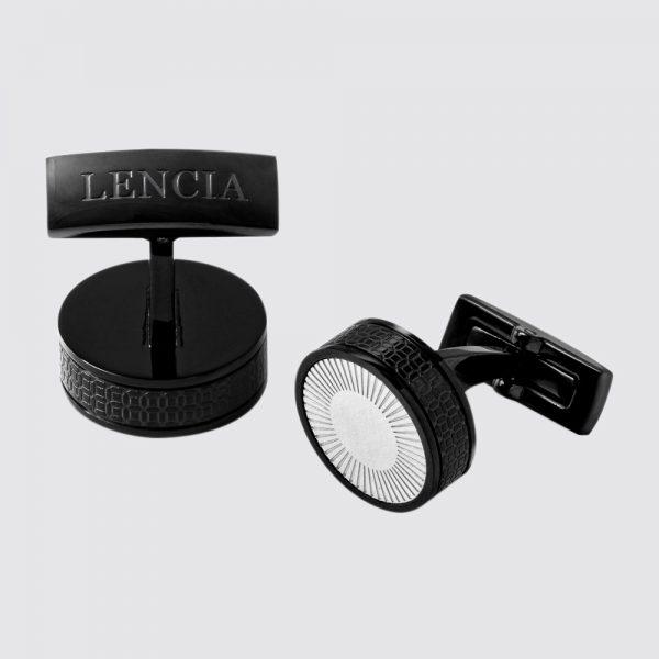 Lencia Cufflink Black And Silver - LCF-LS-2262.BS 1